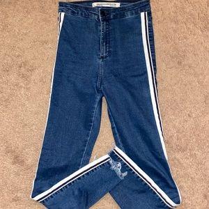 Zara Jeans with side strip